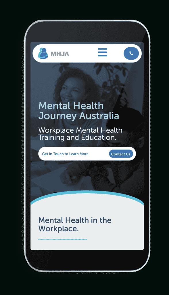 Mental Health Journey mobile responsive website design