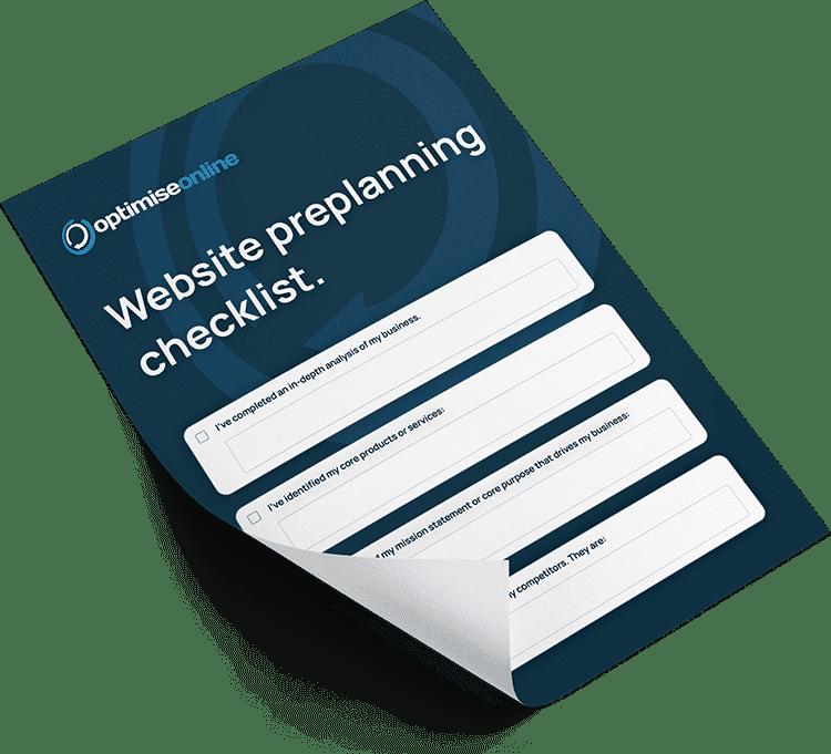 Preview of Website Design Preplanning Checklist